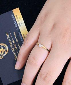 Nhẫn lông voi Công Qua vàng phong thủy