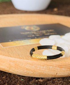 Nhẫn lông voi bó bọc vàng hợp phong thủy cho nam nữ Riogems