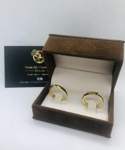 Nhẫn lông voi làm tay 1 sợi vàng phong thủy