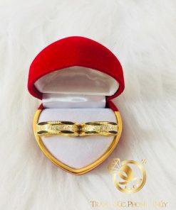 Nhẫn 2 lông voi đính đá