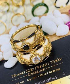 Cặp nhẫn Rồng Rồng vàng 18K