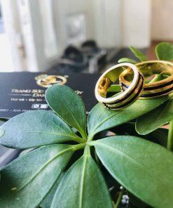 Cặp nhẫn đôi vàng 18K
