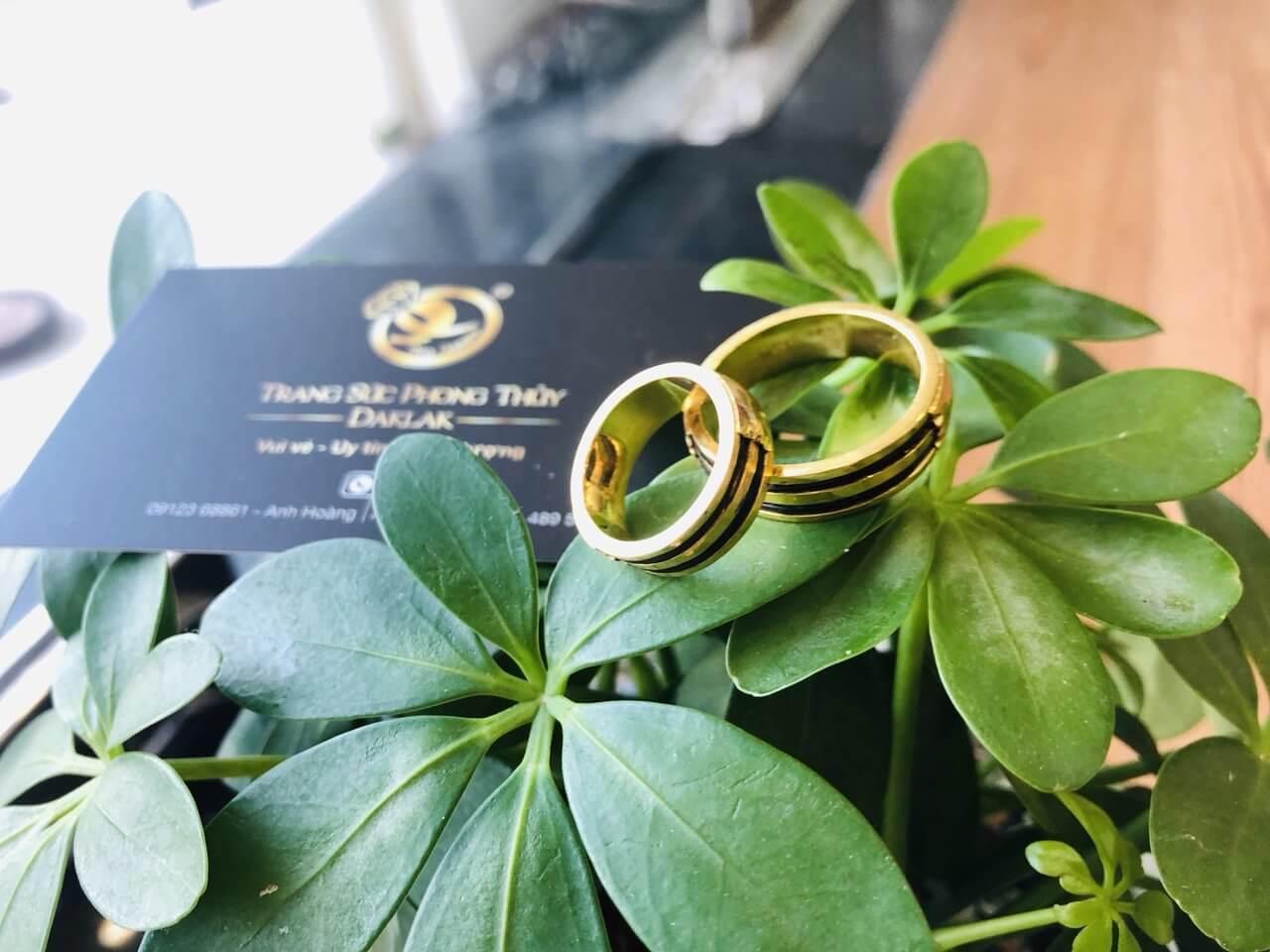 Cặp nhẫn đôi vàng 18K Riogems