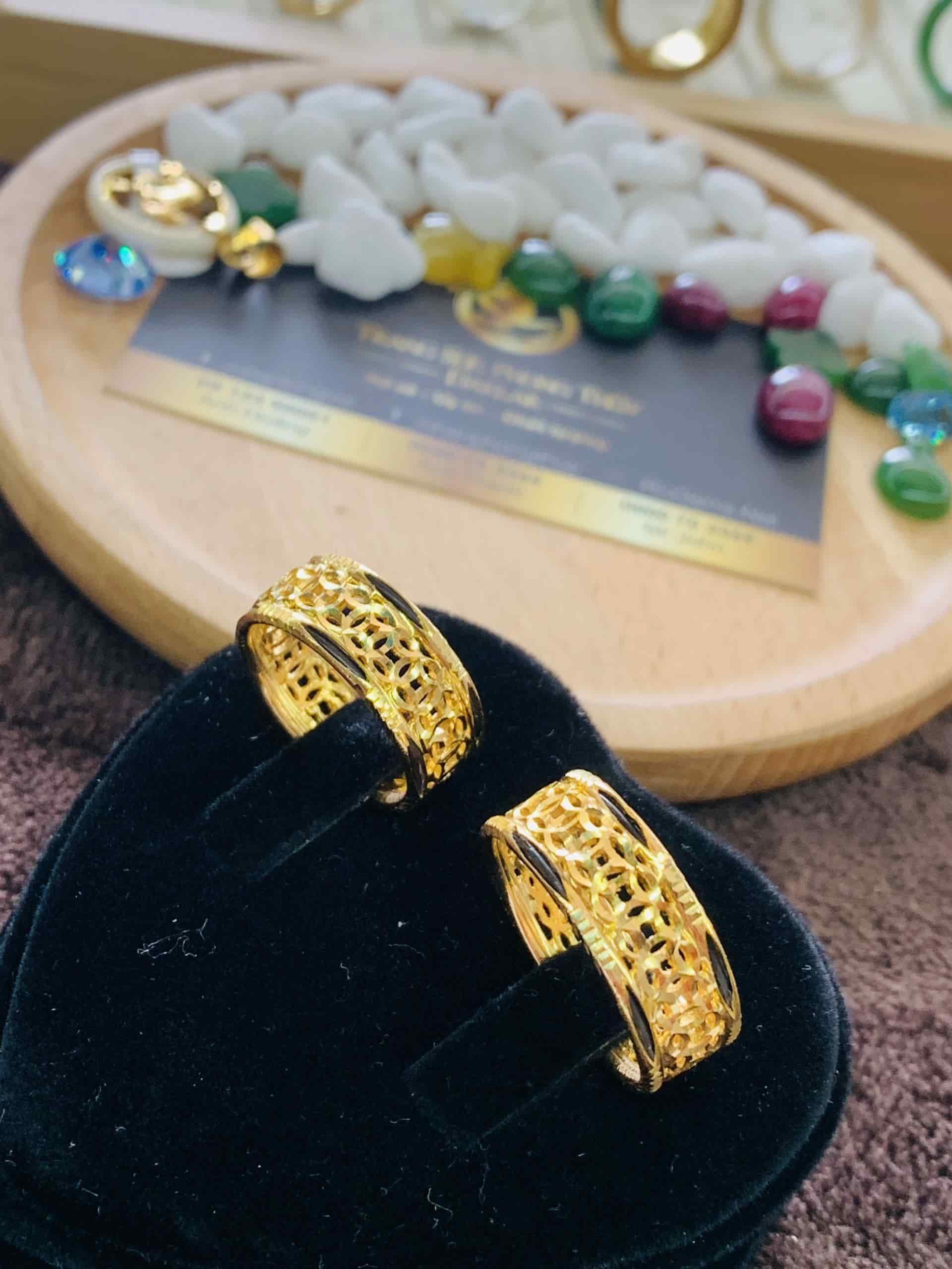 Cặp nhẫn kim tiền nam vàng 18K