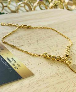Lắc chân phong thủy Mèo Nhật Bản vàng 18K