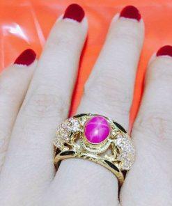 Mẫu nhẫn Cóc ngậm ngọc Ruby Riogems phong thủy