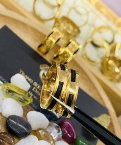 Nhẫn 1 luồng lông chạy viền vàng 18K phong thủy