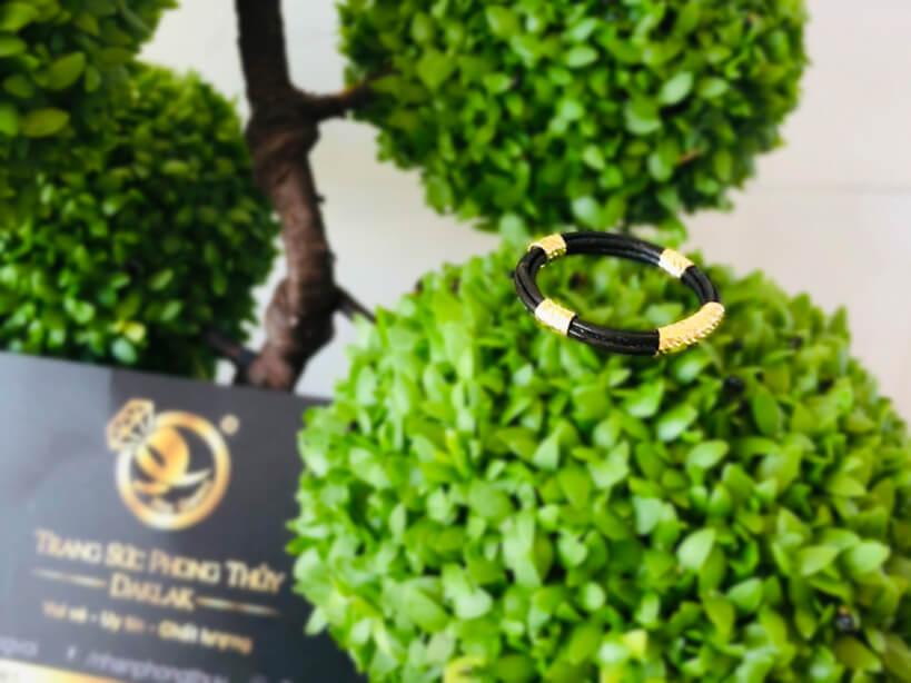 Nhẫn 4 lông bó bọc vàng