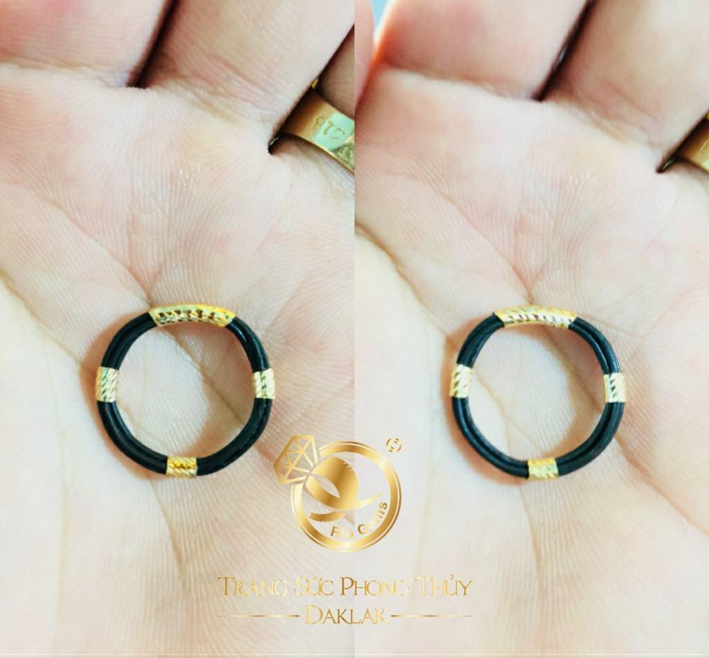 Nhẫn 4 lông bó bọc vàng Riogems