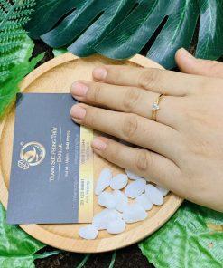 Nhẫn Công Qua vàng 18K hợp chị em bán hàng online (lông FAKE)