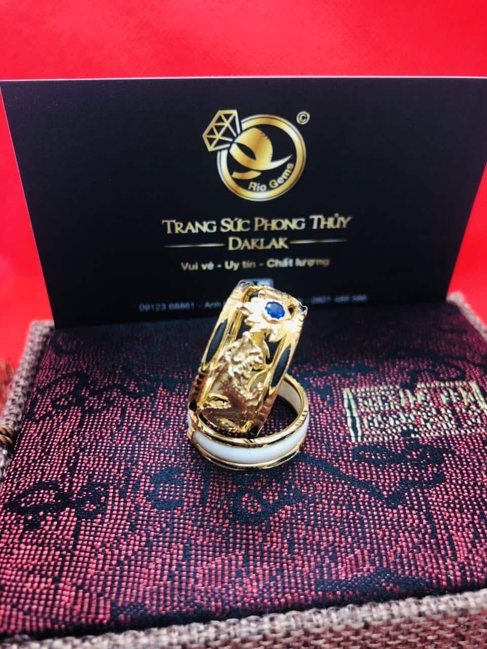 Nhẫn Rồng Phụng vàng 10K Riogems