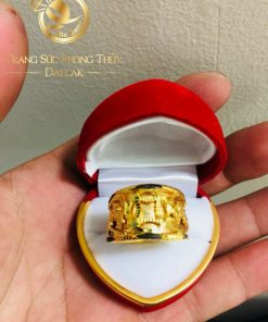 Nhẫn Rồng Rồng 1 đồng tiền VÀNG Ý (lông FAKE)