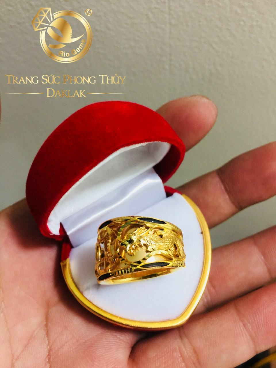 Nhẫn Rồng Rồng 1 đồng tiền VÀNG Ý