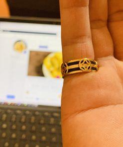 Nhẫn TÀI LỘC3 đồng tiền vàng 18K phong thủy Riogems