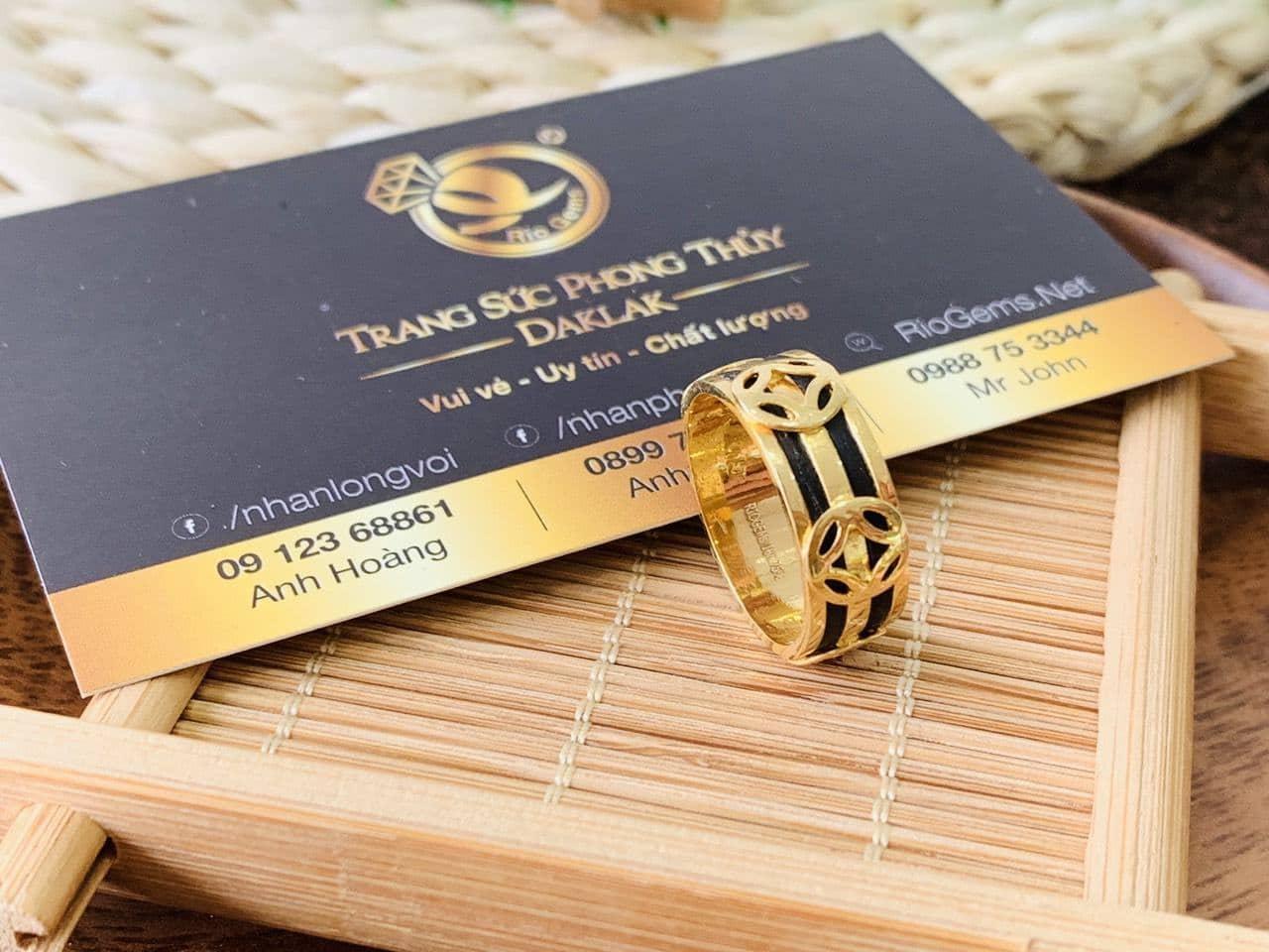 Nhẫn TÀI LỘC mini vàng 18K Riogems
