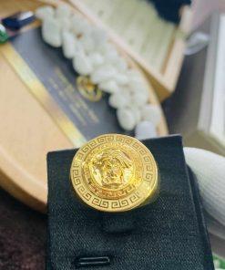 Nhẫn Versace vàng 18K Riogems