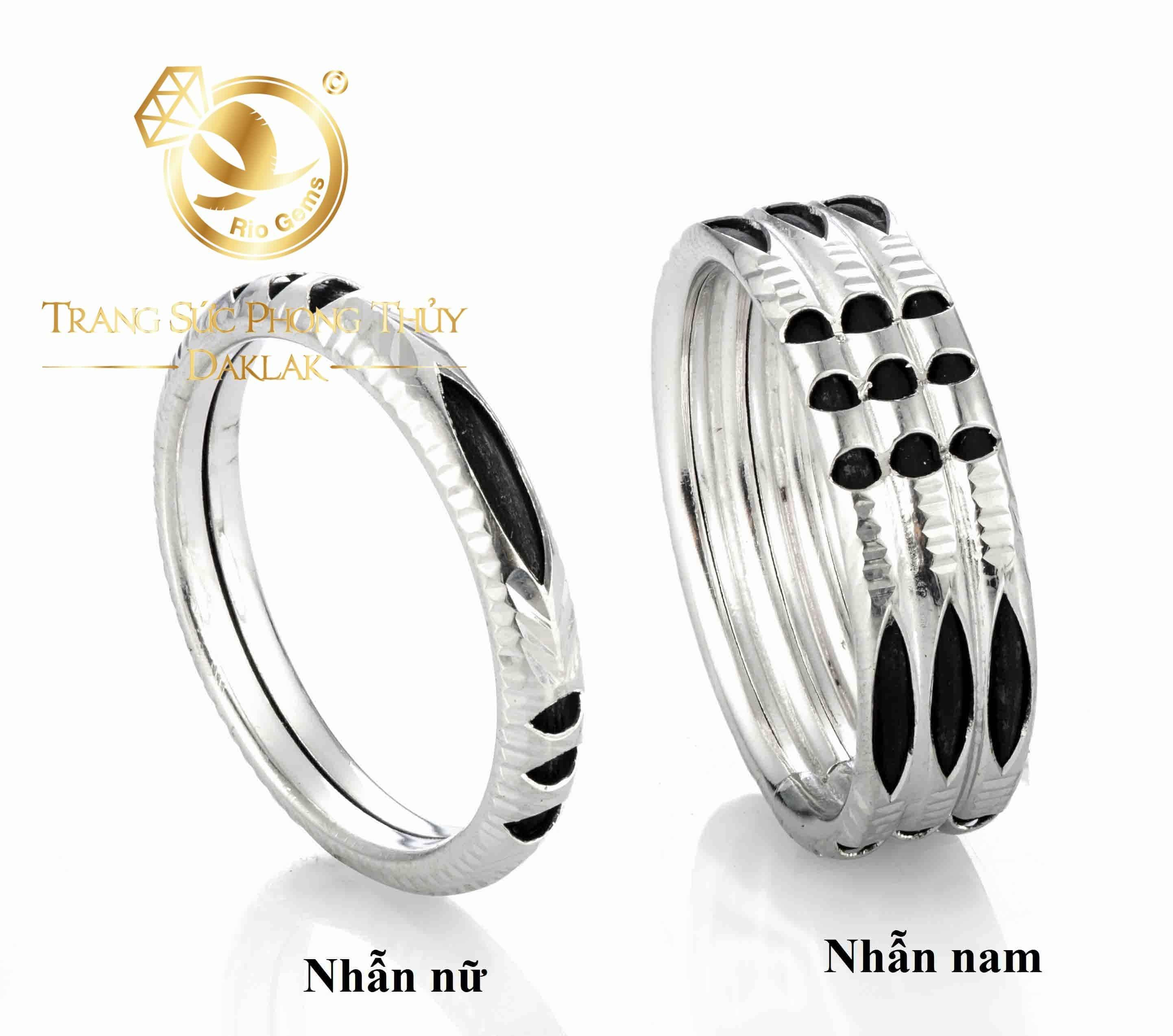 Nhẫn bạc ta xỏ lông phong thủy (lông FAKE)