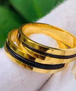 Nhẫn cặp phong thủy Riogems vàng 18K