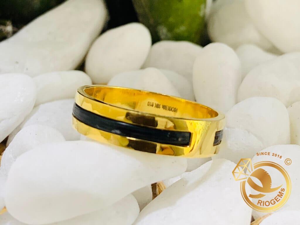 Nhẫn cặp phong thủy  vàng 18K