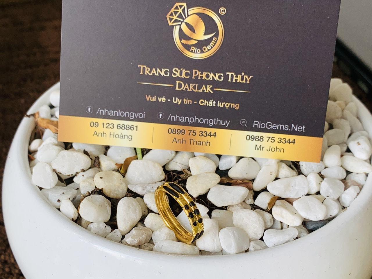 Nhẫn đôi lông đơn giản hợp nam nữ vàng 18K (lông FAKE)