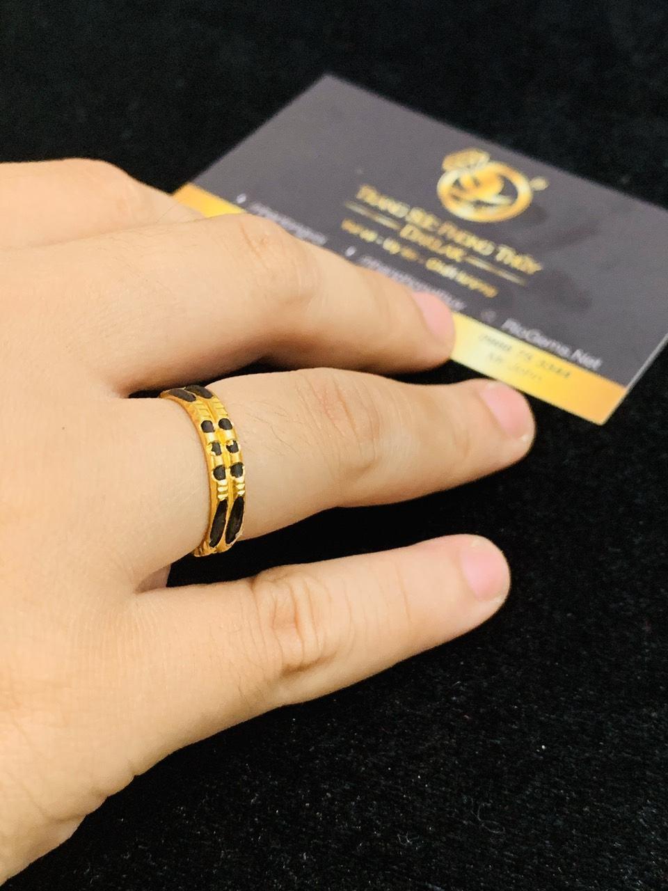 Nhẫn đôi nam nữ vàng 18K Riogems