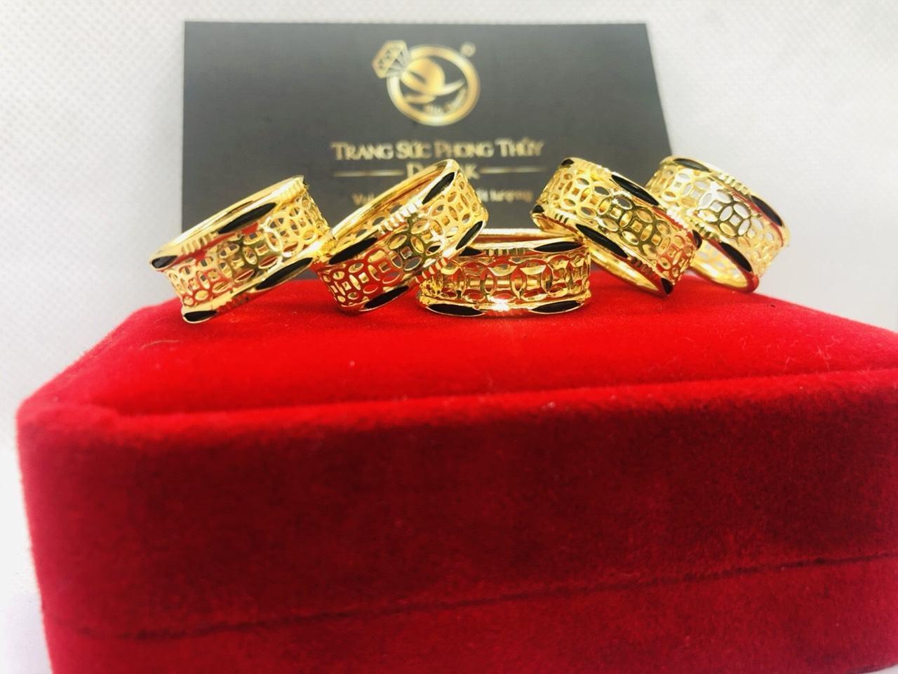 Nhẫn kim tiền vàng 18K phong thủy giá TỐT