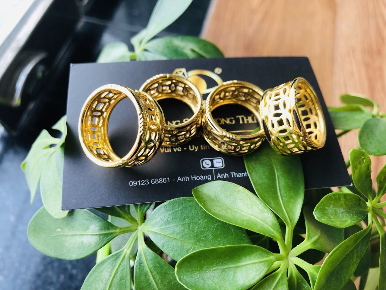Nhẫn kim tiền vàng 24K - 18K