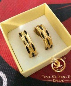 Nhẫn nam nữ 3 sợi so le vàng 18K Riogems