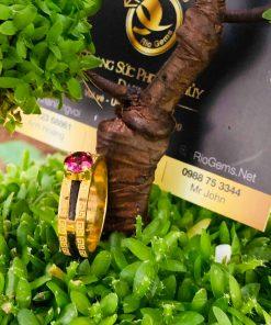 Nhẫn phong thủy hoa văn luồng 1 sợi lông voi chất