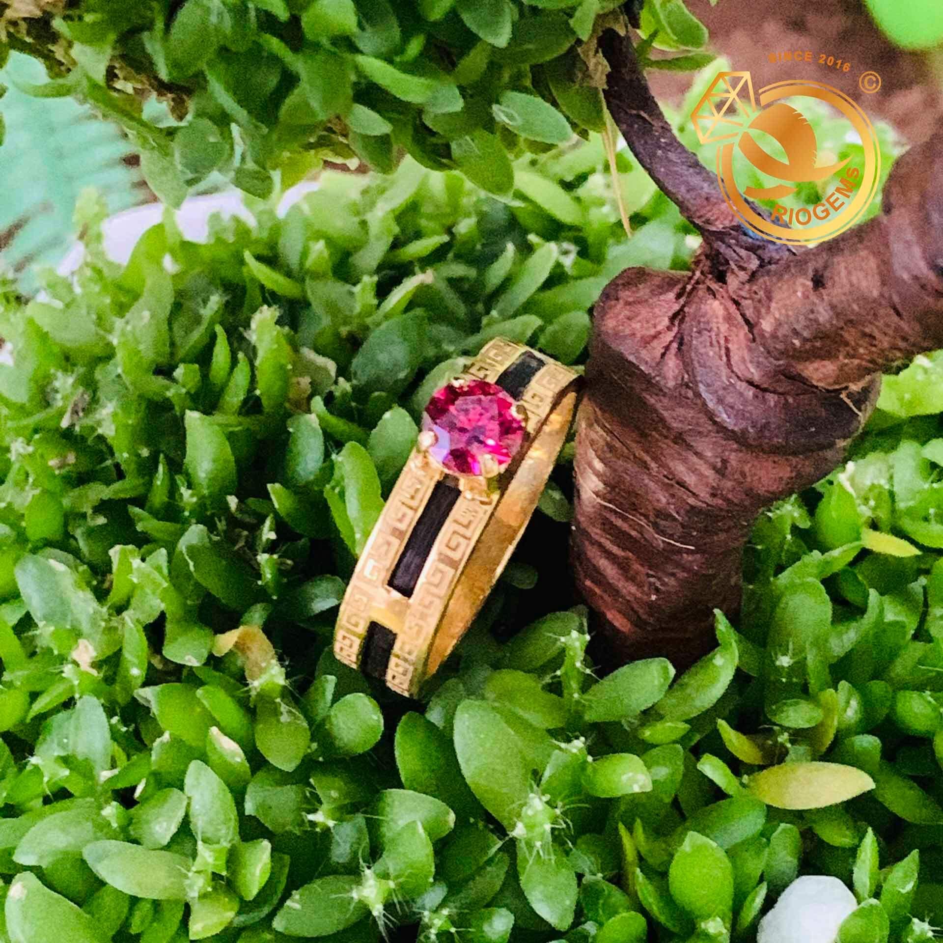 Nhẫn phong thủy hoa văn luồng 1 sợi lông voi cực chất