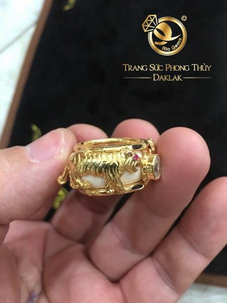 Nhẫn phong thủy tuổi Dần - nhẫn hổ vàng 3D