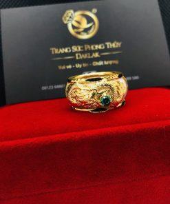 Nhẫn rồng ngậm hạt xanh lá