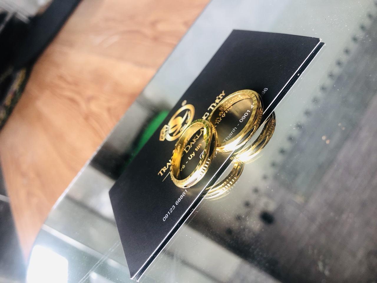 Nhẫn xoay 360 vàng 18K hợp nam nữ BẤT ĐỘNG SẢN (lông FAKE)