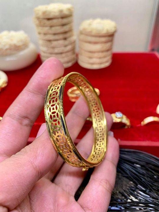 Vòng tay kim tiền vàng 18K phong thủy