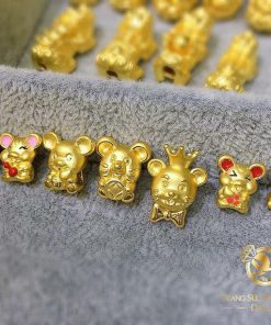 Mặt dây hạt vàng, tỳ hưu, cá chép, heo, đồng tiền chất lượng