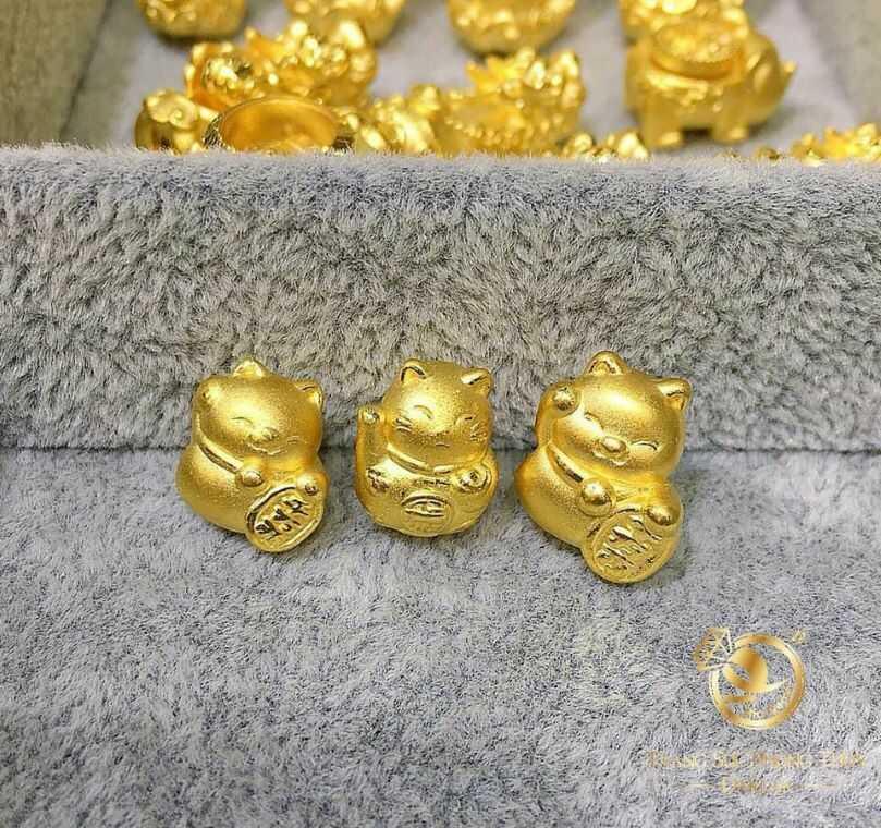 Mặt dây hạt vàng, tỳ hưu, cá chép, heo, đồng tiền tinh giản