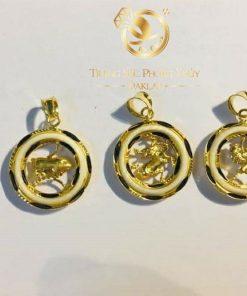 Mặt dây chuyền vàng 12 con giáp khắc chạm hình ảnh 12 linh vật để mang lại may mắn, tài vận cho người đeo