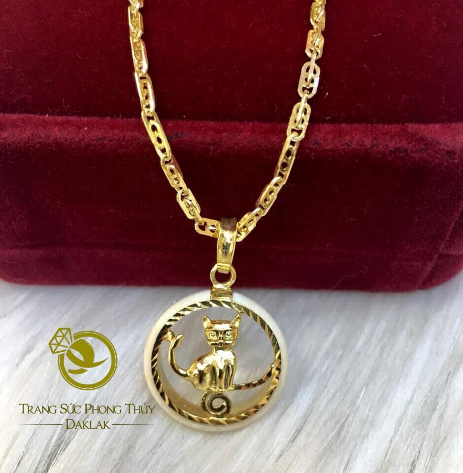 Mặt dây chuyền vàng 12 con giáp luông lông voi công phu và đẹp mắt