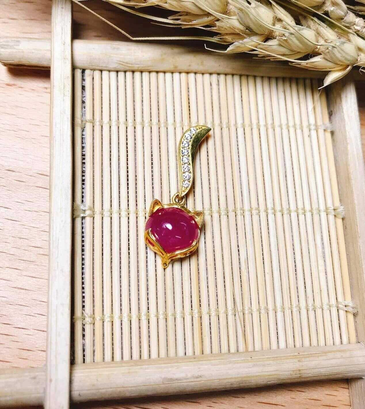 Mặt dây hồ ly bọc vàng phong thủy chất lượng
