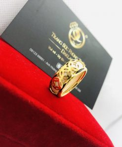Nhẫn phong thủy 3 đồng tiền VÀNG 18K giá trị