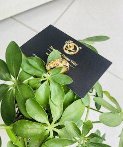 Nhẫn phong thủy 3 đồng tiền VÀNG