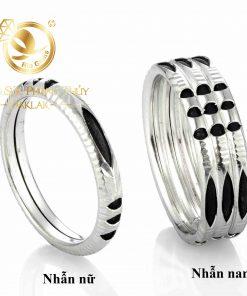 nhẫn lông voi bạc 1 2 sợi