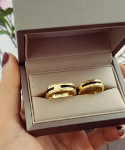 Nhẫn cưới lông voi phong thủy (khắc tên FREE theo yêu cầu)