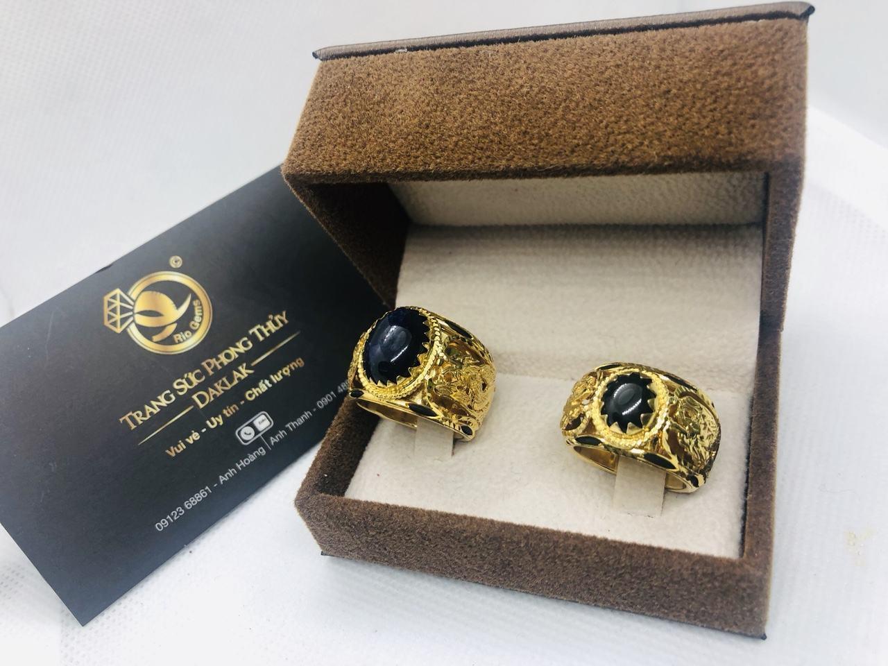 Nhẫn cưới lông voi phong thủy rồng rồng hot nhất
