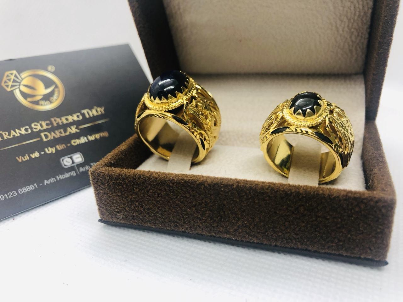 Nhẫn cưới lông voi phong thủy rồng rồng uy tín