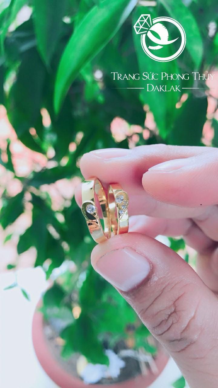 Nhẫn đính hôn vàng 18K đính đá thật Cz – Bản 4mm RIOGEMs