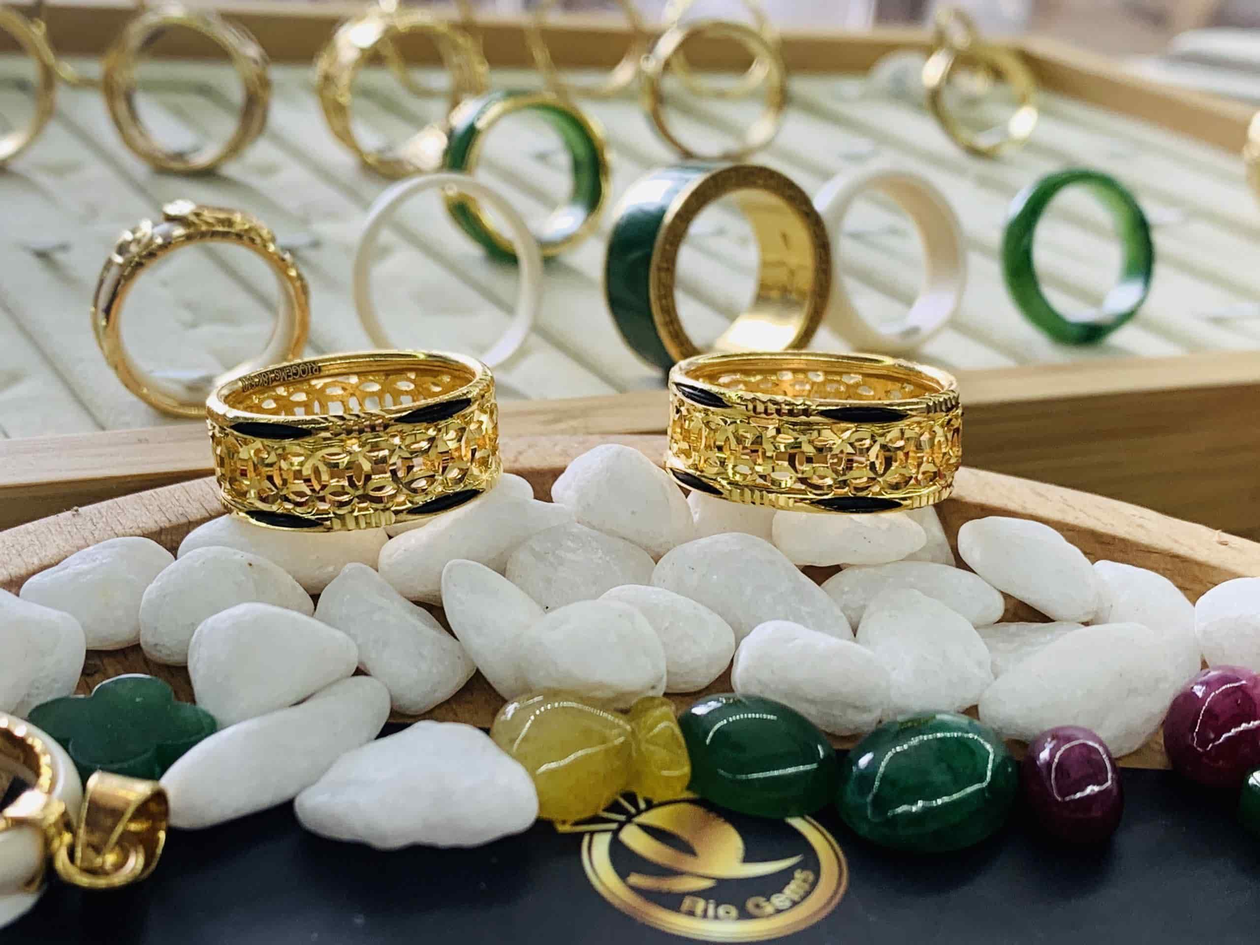 nhẫn kim tiền nam vàng 18K