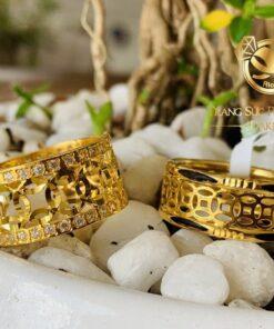 Cặp nhẫn kim tiền nam