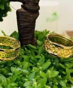 nhẫn kim tiền nẹp 2 viền lông voi RioGems