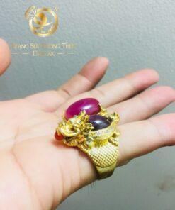 nhan long quy ruby vang phong thuy riogems (2)